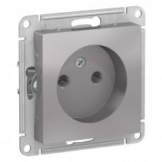 Механизм розетки Schneider Electric AtlasDesign ATN000341 одноместный без заземления алюминий