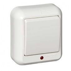 Выключатель Schneider Electric Прима A16-046-B одноклавишный с индикатором белый