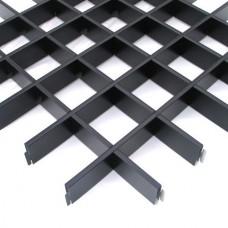 Потолок грильято Cesal CL Эконом черный 86х86х37 мм
