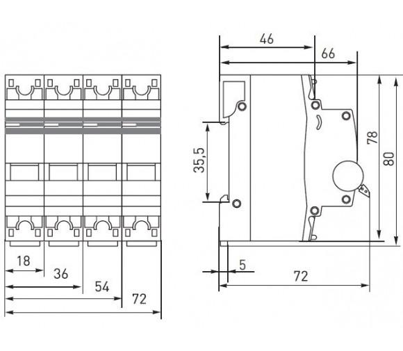Автоматический выключатель EKF Proxima ВА 47-63 1P 4,5 кА 50А С