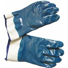 Перчатки синие обливные кислотоупорные, крага