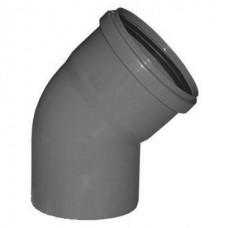 Отвод канализационный ПП Ду 110 мм 45 градусов с кольцом