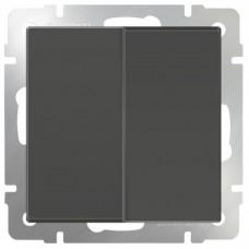 Механизм выключателя Werkel WL07-SW-2G двухклавишный серо-коричневый