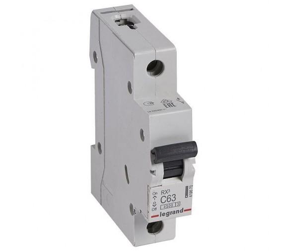 Автоматический выключатель Legrand RX3 419670 1P C 63A 4,5 кА