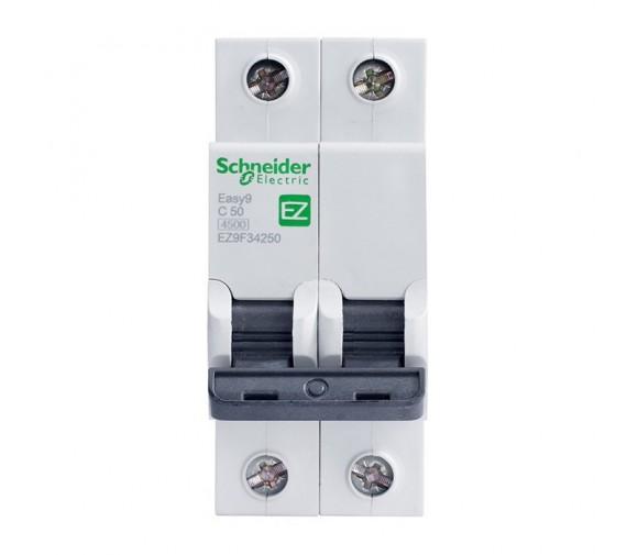 Автоматический выключатель Schneider Electric EASY 9 2П C 50А 4,5кА