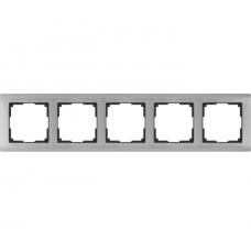 Рамка пятиместная Werkel Metallic WL02-Frame-05 глянцевый никель