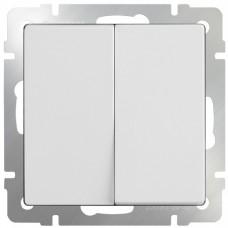 Механизм выключателя Werkel WL01-SW-2G-2W двухклавишный проходной белый