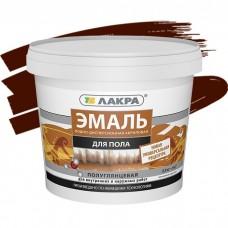 Эмаль акриловая Лакра для пола красно-коричневая 0,9 кг