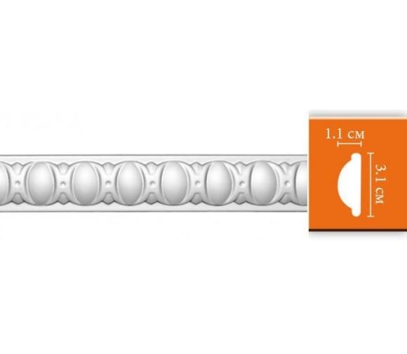 Молдинг полиуретановый Decomaster 98885 2400х31х11 мм