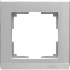 Рамка одноместная Werkel Stark WL04-Frame-01 серебряная