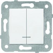 Механизм выключателя Panasonic Karre Plus WKTT00102WH-RES двухклавишный с подсветкой белый