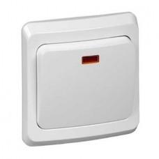 Выключатель Schneider Electric Этюд BC10-005B одноклавишный с индикатором белый