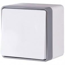 Выключатель накладной Werkel Gallant WL15-01-02 одноклавишный влагозащищенный белый