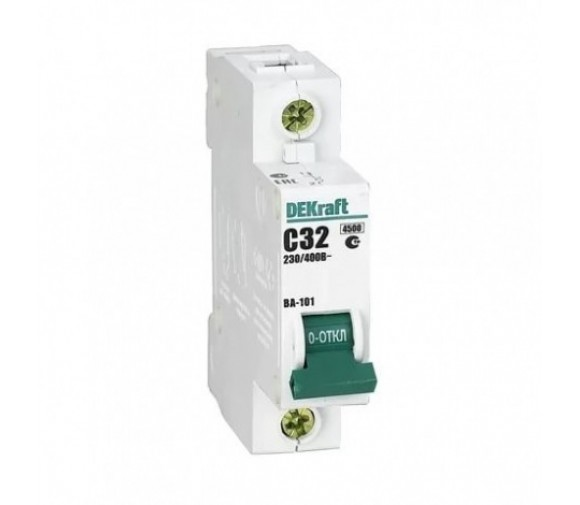 Автоматический выключатель DEKraft ВА-101 1п C 32А 4.5кА