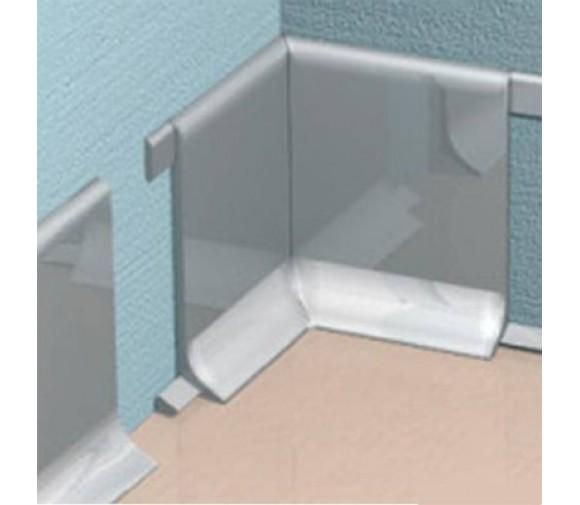 Угол внутренний для плинтуса из нержавеющей стали Progress Plast RICTACS 100