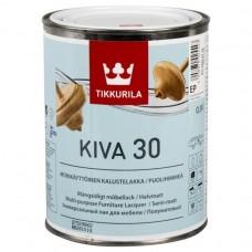 Лак Tikkurila Kiva 30 полуматовый 2,7 л