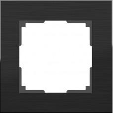 Рамка одноместная Werkel Aluminium WL11-Frame-01 черный алюминий