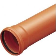 Труба наружная ПВХ Политэк Ду 110х3,2х560 мм кирпичный цвет