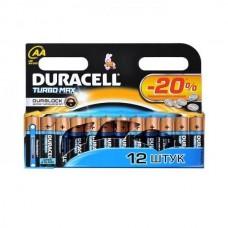 Батарейка алкалиновая Duracell Turbo Max AA Bl-2 Bl-12 12 шт