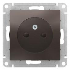 Механизм розетки Schneider Electric AtlasDesign ATN000649 одноместный без заземления с защитными шторками мокко