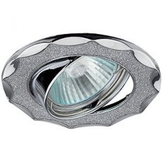 Эра Dk17 Ch/Sh Sl декор звезда со стеклянной крошкой Mr16 12В 50Вт хром/серебро 255323