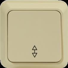 Выключатель одноклавишный проходной О/У бежевый