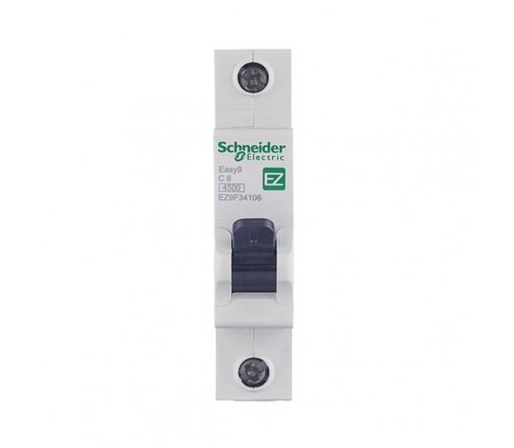 Автоматический выключатель Schneider Electric EASY 9 1П C 6А 4,5кА