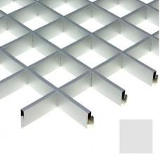 Потолок грильято Cesal Urban Standart Хром Люкс A08 100х100х27 мм