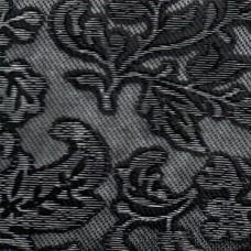 Декоративная панель МДФ Deco Цветы черный и серебро 114 2800х1000 мм