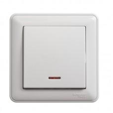 Выключатель Schneider Electric W59 VS116-153-18 одноклавишный с индикатором белый