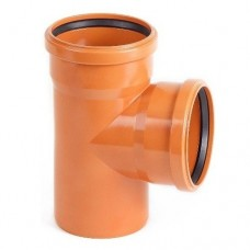 Тройник ПВХ Pestan канализационный 400х250 мм угол 87 градусов
