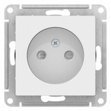 Механизм розетки Schneider Electric AtlasDesign ATN000149 одноместный без заземления с защитными шторками белый