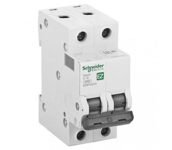 Автоматический выключатель Schneider Electric EASY 9 2П C 10А 4,5кА