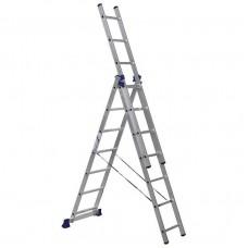 Лестница трехсекционная Алюмет 5307 3х7