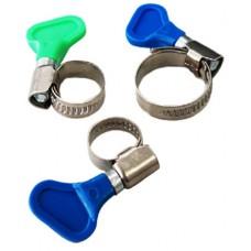Хомуты с ключом нержавеющая сталь 16-27 мм 50 шт/уп