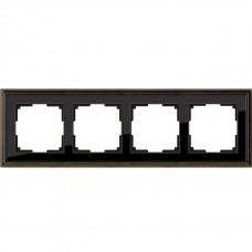 Рамка четырехместная Werkel Snabb Basic WL03-Frame-04 серо-коричневая