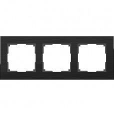 Рамка трехместная Werkel Aluminium WL11-Frame-03 черный алюминий