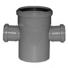 Крестовина канализационная ПП 110х50х50х110 мм 90 градусов с кольцом