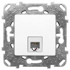 Механизм телефонной розетки Schneider Electric Unica MGU5.492.18ZD RJ11 одноместный белый