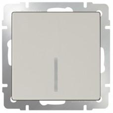 Механизм выключателя Werkel WL03-SW-1G-LED-ivory одноклавишный с индикатором Слоновая кость