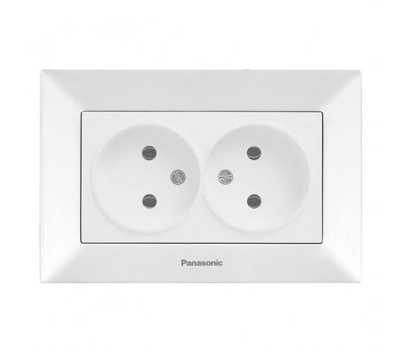 Розетка Panasonic Arkedia WMTC02042WH-RES двухместная белая