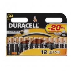 Батарейка алкалиновая Duracell Basic AA LR6 Bl-12 12 шт