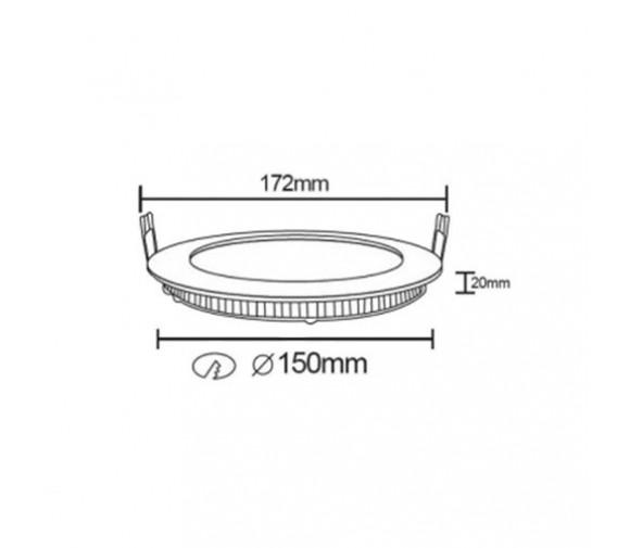 Светильник светодиодный Beghler SMD-CRD BP01-31230 12W 6400K