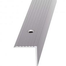 Порог алюминиевый угловой ПО Серебро 30x30x2700 мм