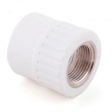 Муфта комбинированная PPR Remsan 20 мм 1/2 дюйма с внутренней резьбой белая