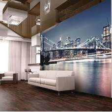 Фотообои виниловые на флизелиновой основе Decocode Манхэттенский мост 41-0004-WB 4х2,8 м