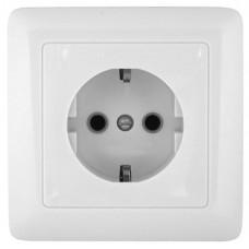 Розетка Schneider Electric Хит RA16-133-B одноместная белая