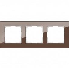 Рамка трехместная Werkel Favorit WL01-Frame-03 Мокко