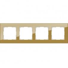 Рамка четырехместная Werkel Favorit WL01-Frame-04 бронзовая
