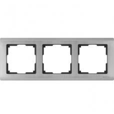 Рамка трехместная Werkel Metallic WL02-Frame-03 глянцевый никель
